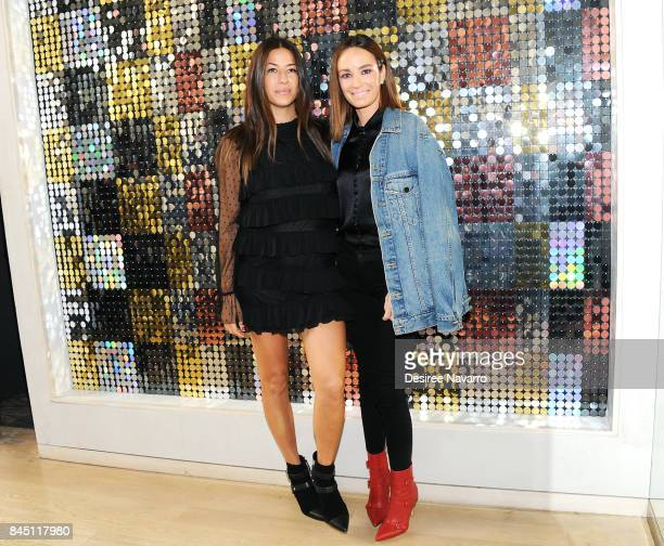 Designer Rebecca Minkoff and news anchor Catt Sadler attend Rebecca Minkoff fashion show during New York Fashion Week at Rebecca Minkoff on September...