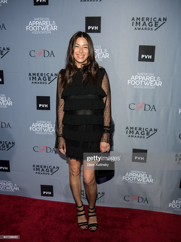 Designer Rebecca Minkoff arrives at the American Apparel & Footwear Association's 40th Annual American Image Awards on 2018 on April 16, 2018 in New York City.