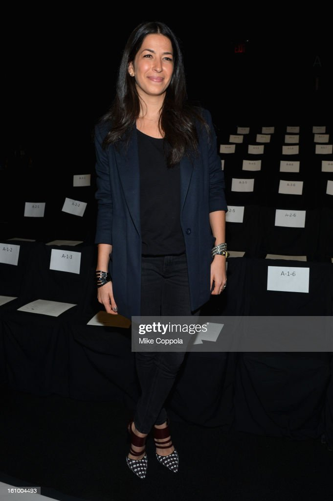 Designer Rebecca Minkoff attends the Rebecca Minkoff Fall 2013 fashion show during Mercedes-Benz Fashion at The Theatre at Lincoln Center on February 8, 2013 in New York City.