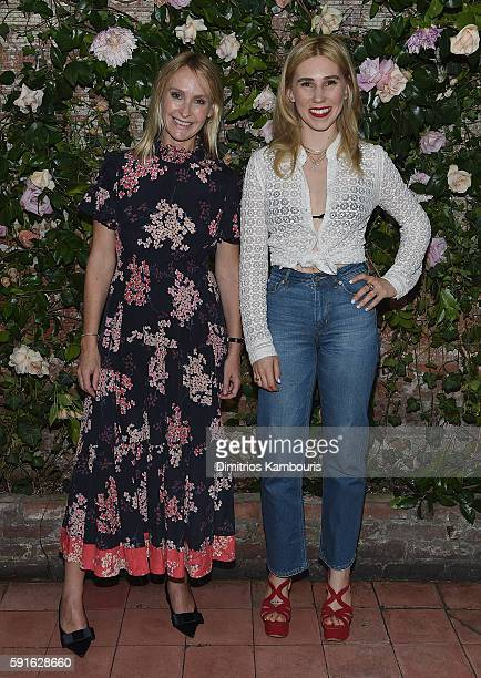 Designer Rebecca Taylor and Zosia Mamet attend Rebecca Taylor x Shopbop Denim launch dinner at The Waverly Inn on August 17 2016 in New York City