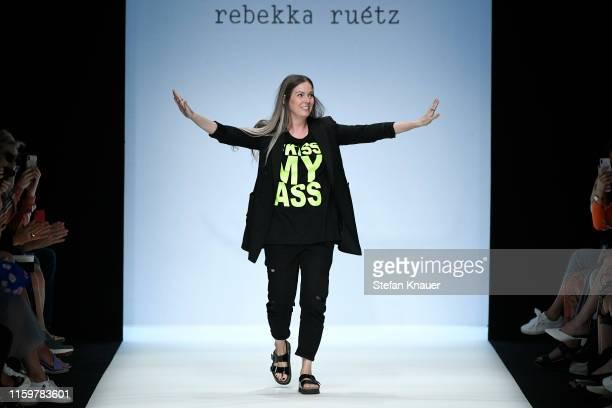 Designer Rebekka Ruetz at the Rebekka Ruetz show during the Berlin Fashion Week Spring/Summer 2020 at ewerk on July 03 2019 in Berlin Germany