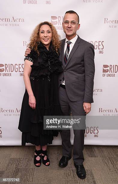 Designer Reem Acra and CFDA CEO Steven Kolb attend Bridges Of Understanding's annual Building Bridges award dinner honoring designer Reem Acra with...
