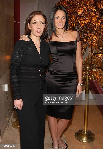 Designer Reem Acra and Dayanara Torres during MercedesBenz Fashion Week Fall 2003 Collections Reem Acra Boutique Opening at Reem Arca Boutique in New...