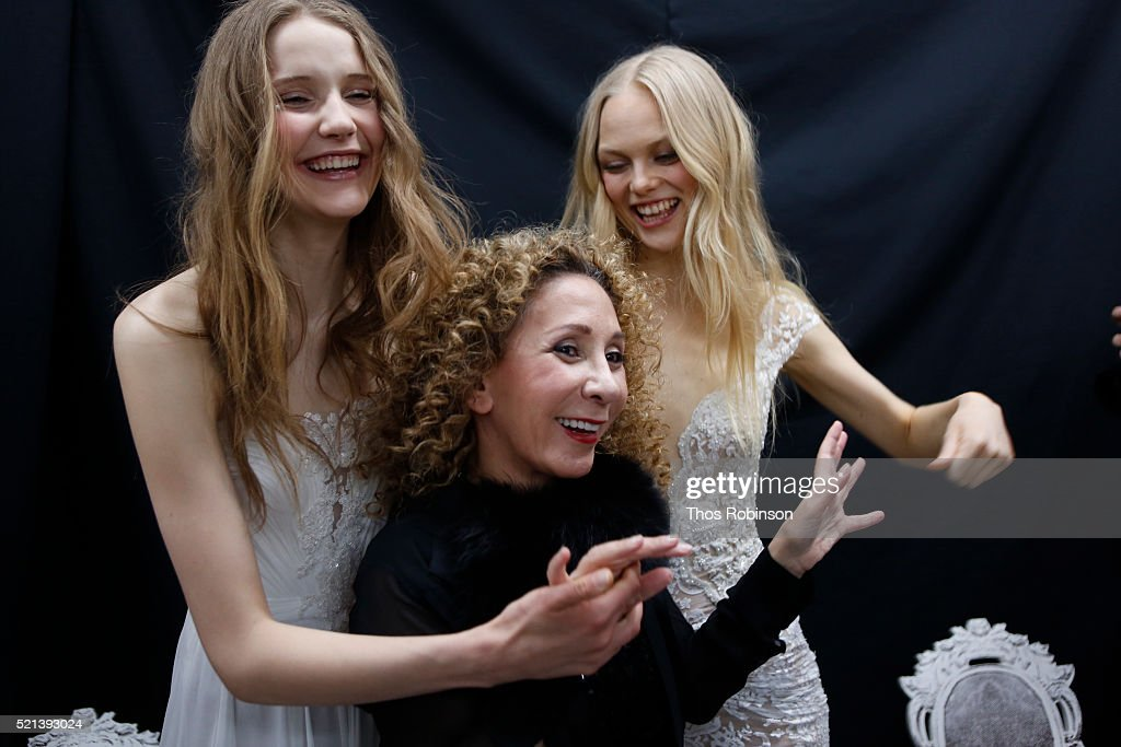 Designer Reem Acra at Mary Kay At Reem Acra Bridal S/S '17 - Presentation And Backstage on April 15, 2016 in New York City.