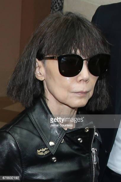 Designer Rei Kawakubo attends the 'Rei Kawakubo/Comme des Garcons Art Of The InBetween' Costume Institute Gala Press Preview at Metropolitan Museum...