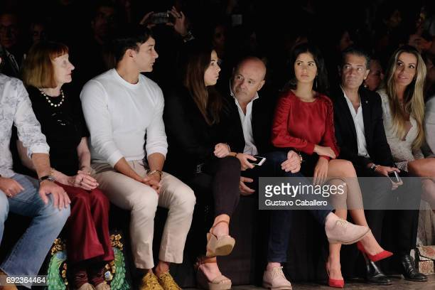 Designer Rene Ruiz is seen front row at the Angel Sanchez Show during Miami Fashion Week at Ice Palace Film Studios on June 4 2017 in Miami Florida
