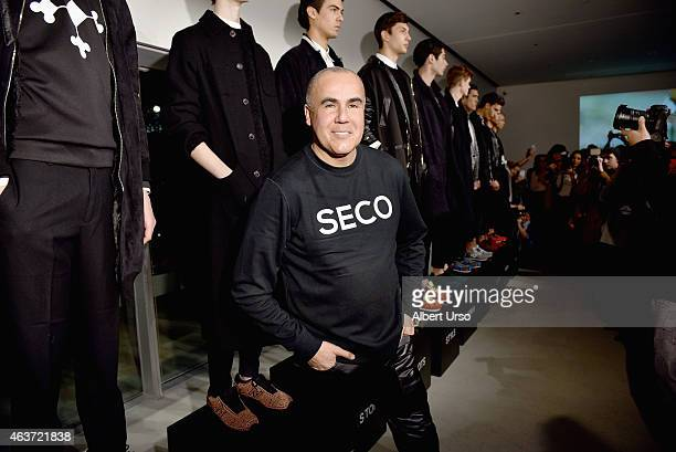 Designer Ricardo Seco attends the Ricardo Seco fashion show during MercedesBenz Fashion Week Fall 2015 at The New Museum on February 17 2015 in New...