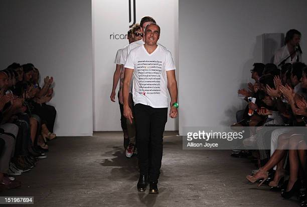 Designer Ricardo Seco is seen at his spring 2013 fashion show during MercedesBenz Fashion Week at on September 13 2012 in New York City
