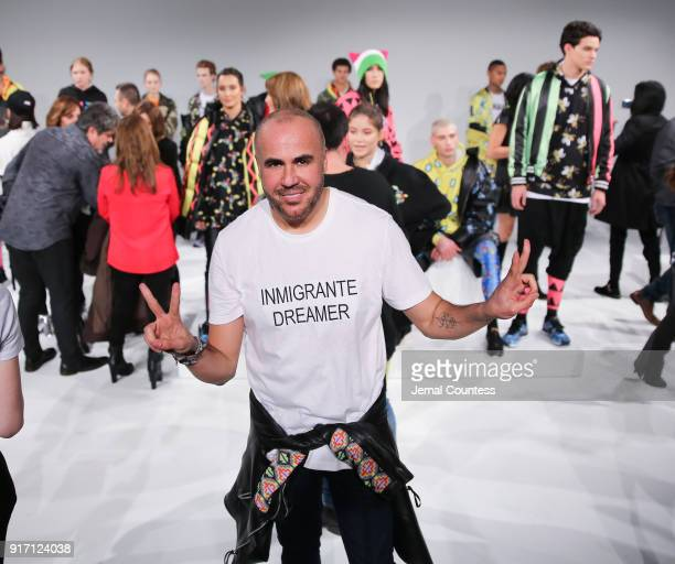 Designer Ricardo Seco poses for a photo during the Ricardo Seco Presentation during New York Fashion Week at Pier 59 on February 11 2018 in New York...