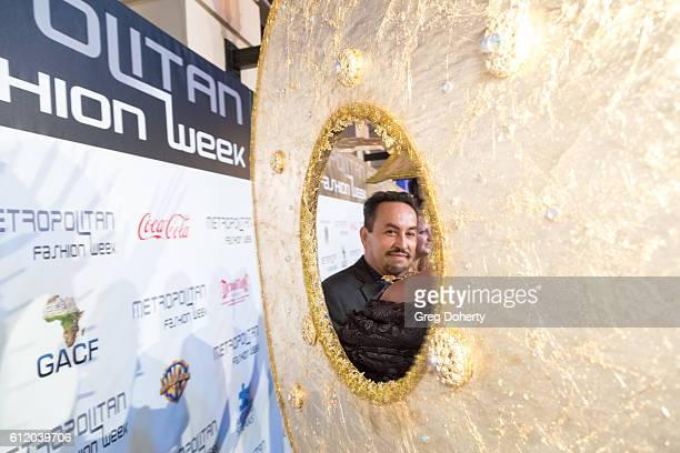 Designer Ricardo Soltero arrives at the Metropolitan Fashion Week 2016 Closing Gala And Fashion Awards at Warner Bros Studios on October 1 2016 in...