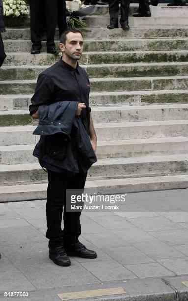 Designer Ricardo Tisci attends Yves Saint Laurent's Funeral Service on June 5, 2008 at Eglise Saint-Roch in Paris, France. The designer Yves Saint...