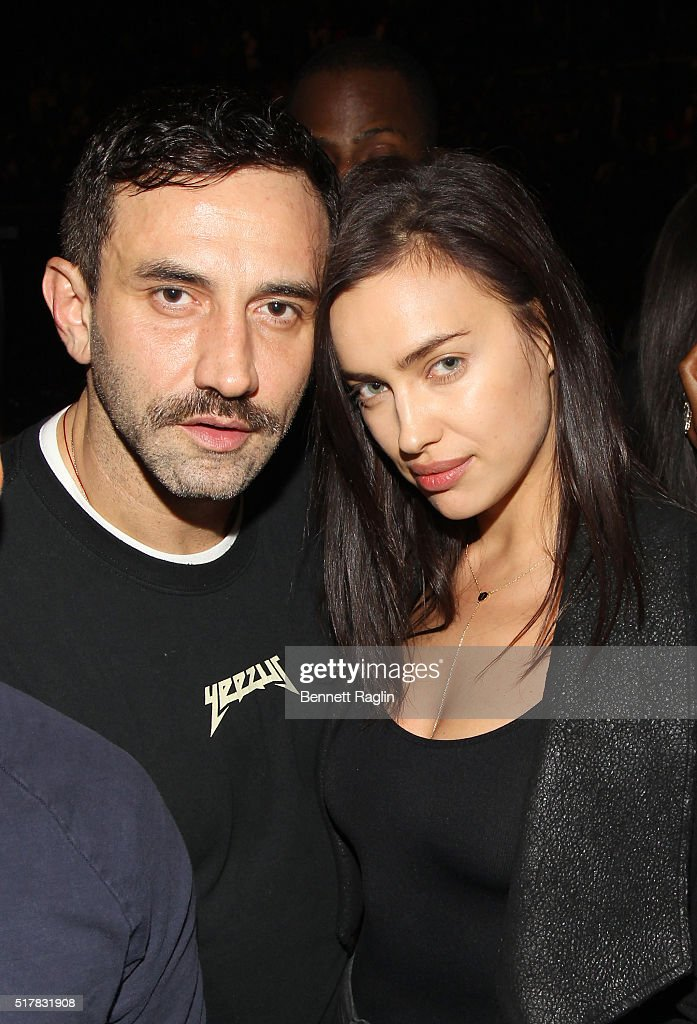 Designer Riccardo Tisci and model lrina Shayk attend the D'USSE VIP Riser At Rihanna: ANTI World Tour at Barclays Center on March 27, 2016 in New York City.