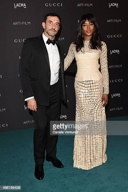 Designer Riccardo Tisci and model Naomi Campbell attend LACMA 2015 Art+Film Gala Honoring James Turrell and Alejandro G Iñárritu, Presented by Gucci...