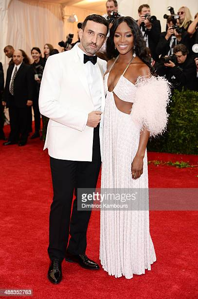 Designer Riccardo Tisci and Naomi Campbell attend the 'Charles James Beyond Fashion' Costume Institute Gala at the Metropolitan Museum of Art on May...
