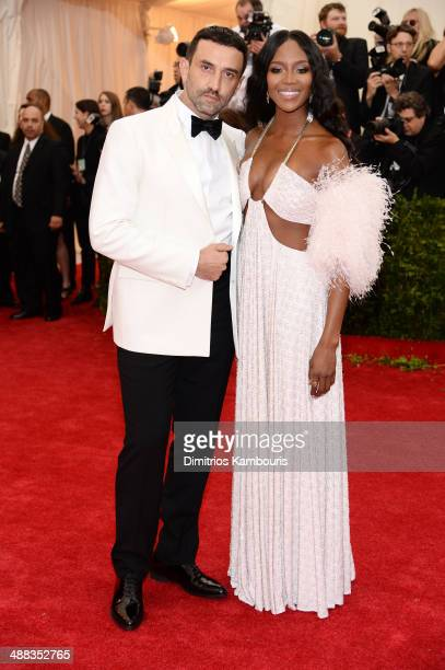 """Designer Riccardo Tisci and Naomi Campbell attend the """"Charles James: Beyond Fashion"""" Costume Institute Gala at the Metropolitan Museum of Art on May..."""
