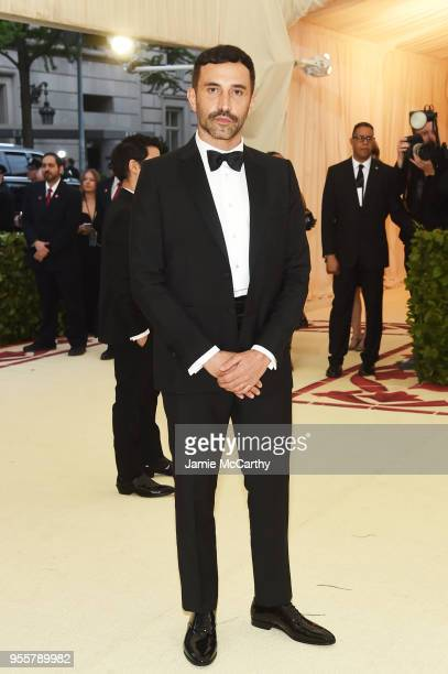 Designer Riccardo Tisci attends the Heavenly Bodies: Fashion & The Catholic Imagination Costume Institute Gala at The Metropolitan Museum of Art on...