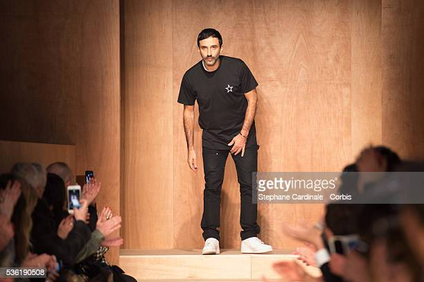 Designer Riccardo Tisci is seen on the runway during the Givenchy show as part of the Paris Fashion Week Womenswear Fall/Winter 2016/2017 on March 6,...