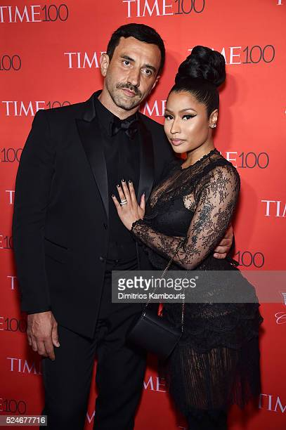 Designer Riccardo Tisci rapper Nicki Minaj attend 2016 Time 100 Gala Time's Most Influential People In The World red carpet at Jazz At Lincoln Center...