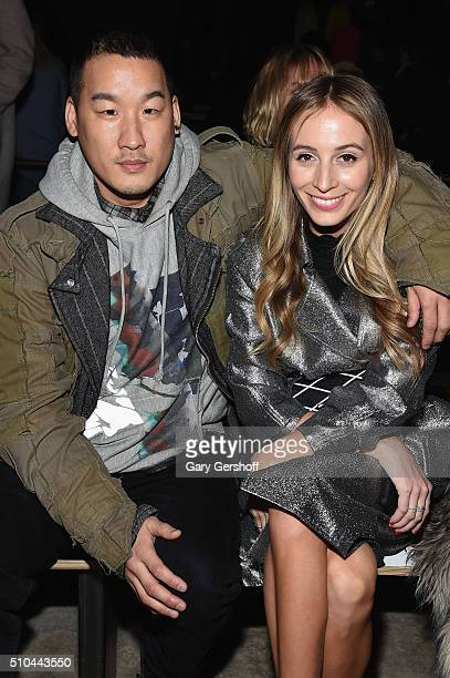 Designer Richard Chai and model Harley Viera-Newton attend the 3.1 Phillip Lim fashion show during New York Fashion Week Fall 2016 at Skylight...