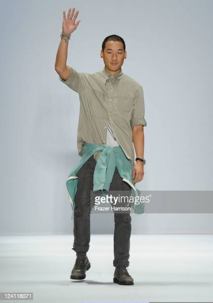 Designer Richard Chai walks the runway at the Richard Chai Spring 2012 fashion show during MercedesBenz Fashion Week at The Stage at Lincoln Center...