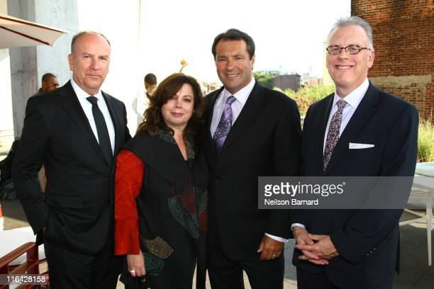 Designer Richard Frinier Cathy Frinier Gene Moriarity CEO Brown Jordan and Stephen Elton attend the Architectural Digest's celebration of Brown...