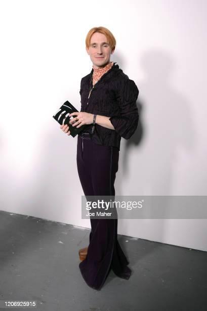 Designer Richard Malone is presented the International Woolmark Prize 2020 at the International Woolmark Prize 2020 during London Fashion Week...
