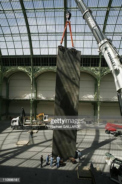 Designer Richard Serra set up his Monumenta 2008 in Paris, France on April 26th, 2008 - Artistic contest of high ambition, Monumenta 2008 invites...
