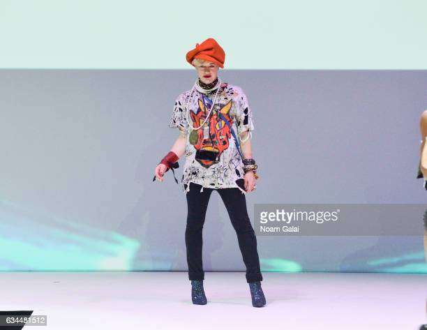 Designer Richie Rich walks the runway at the Popoganda By Richie Rich fashion show during February 2017 New York Fashion Week at The Theater at...