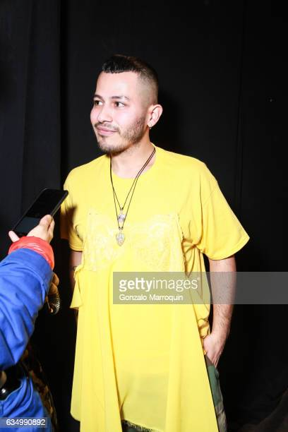 Designer Rio Uribe backstage at the Gypsy Sport Fashion Show during 2017 New York Fashion Week The Shows at Skylight Clarkson Sq on February 12 2017...