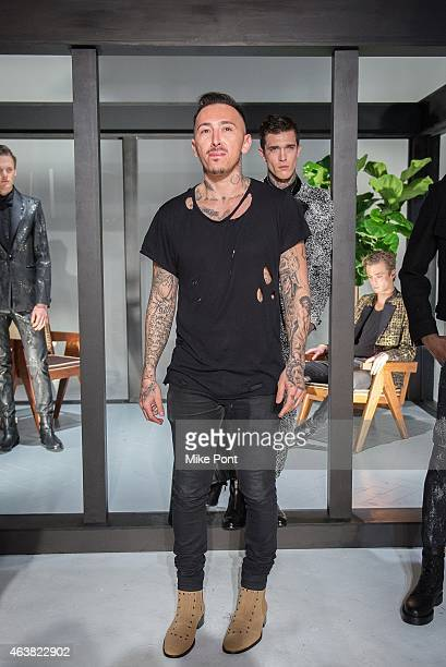 Designer Rob Garcia attends the Rob Garcia Presentation during Mercedes-Benz Fashion Week Fall 2015 on February 18, 2015 in New York City.