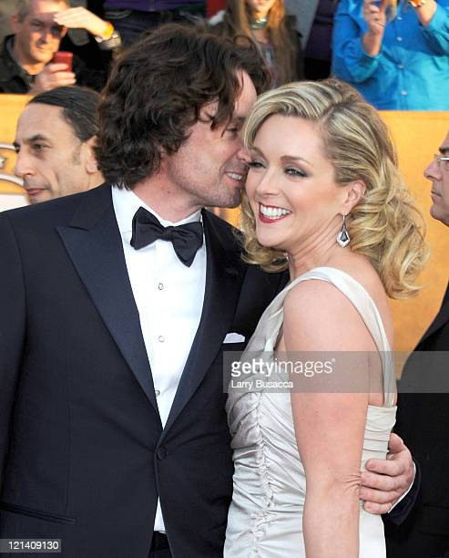 Designer Robert Godley and actress Jane Krakowski arrive to the TNT/TBS broadcast of the 16th Annual Screen Actors Guild Awards held at the Shrine...