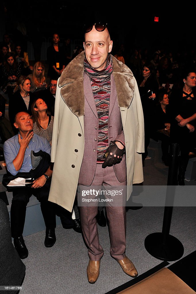 Designer Robert Verdi attends the Kaufmanfranco Fall 2013 fashion show during Mercedes-Benz Fashion Week at The Stage at Lincoln Center on February 11, 2013 in New York City.