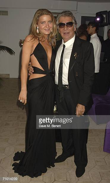 Designer Roberto Cavalli and guest attend the annual De Grisogono party hosted by the Swissbased jewellery house at Hotel Du Cap on May 22 2006 in...
