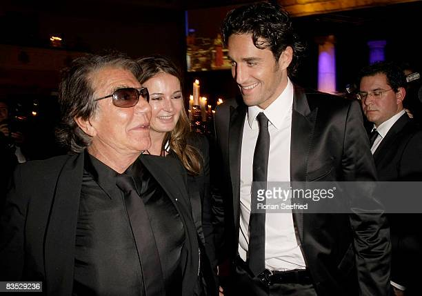 Designer Roberto Cavalli and wife Eva and soccerplayer / footballplayer Luca Toni attend the Unesco Benefit Gala For Children 2008 at Hotel Maritim...