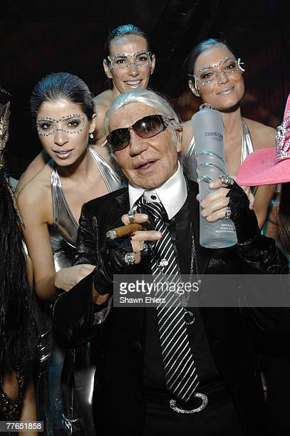 designer roberto cavalli attends the cavalli cipriani halloween ball 2007 hosted by roberto cavalli and giuseppe