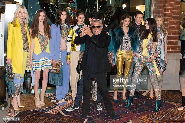 Designer Roberto Cavalli attends the Just Cavalli Soho Flagship store opening at Just Cavalli Soho on December 12, 2013 in New York City.