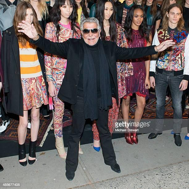 Designer Roberto Cavalli attends the Just Cavalli Soho Flagship store opening at Just Cavalli Soho on December 12 2013 in New York City