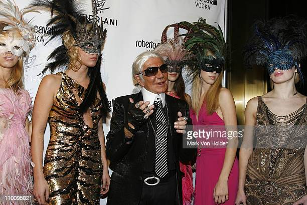 Designer Roberto Cavalli attends the Roberto Cavalli Vodka and Giuseppe Cipriani Halloween Party at Cipriani's 42nd Street on October 31 2007 in New...