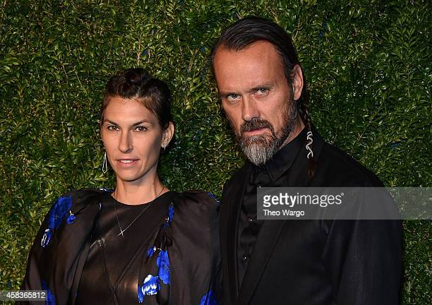 Designer Rogan Gregory and a guest attend the 11th annual CFDA/Vogue Fashion Fund Awards at Spring Studios on November 3 2014 in New York City