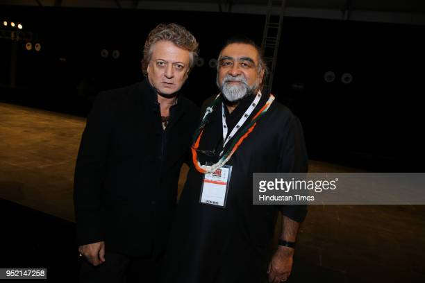 Designer Rohit Bal and film director Prahlad Kakkar during the event Khadi Transcending Boundaries It included a fashion show by designers Anju Modi...