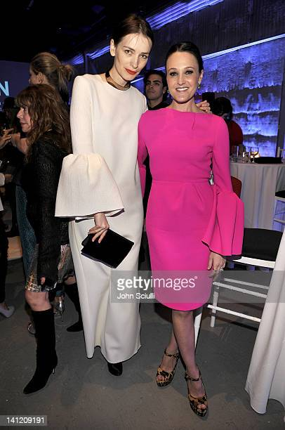 designer Roksanda Ilincic and guest attend the British Fashion Council's LONDON Show ROOMS LA opening cocktail party at Smashbox Studios on March 12...