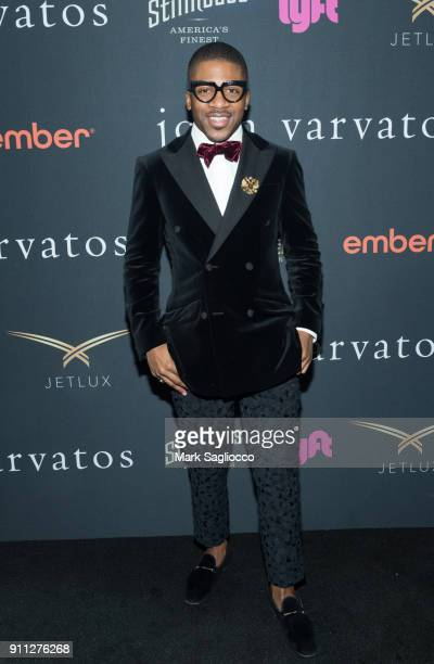 Designer Romeo Hunte attends the John Varvatos SS'18 Ad Campaign Launch Party on January 27 2018 in New York City