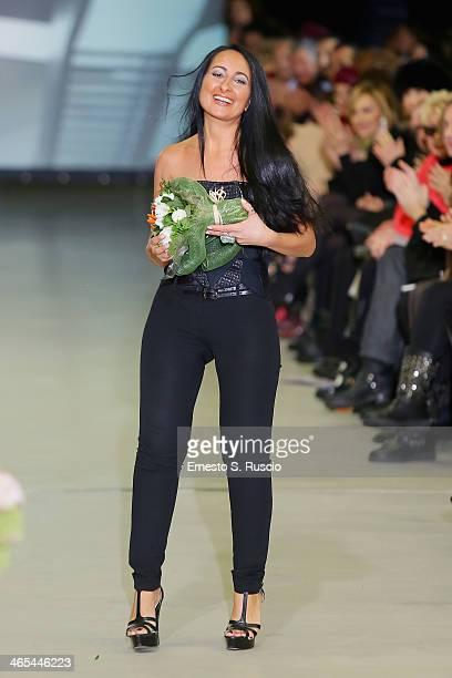 Designer Sabrina Persechino attends the runway during the Sabrina Persechino fashion show as part of AltaRoma Fashion Week Spring/Summer 2014 at...