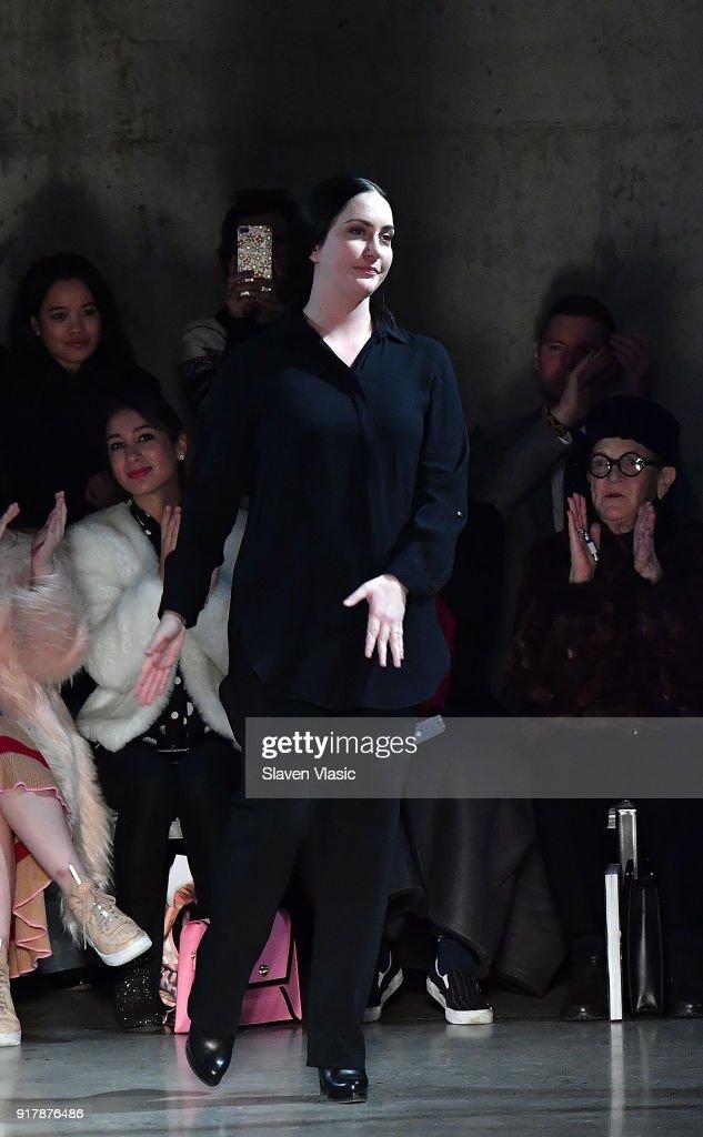 Sally LaPointe - Runway - February 2018 - New York Fashion Week : News Photo