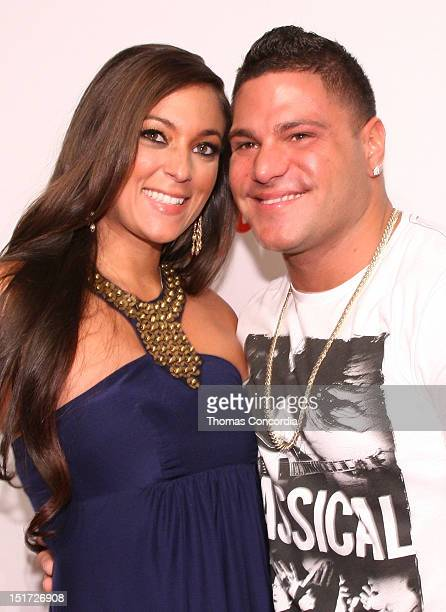 Designer Sammi Giancola and Ronnie OrtizMagro arrive at the launch of Sammi Sweetheart Collection presented by STYLE360 on September 10 2012 in New...