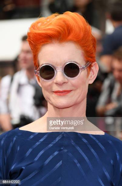 Designer Sandy Powell attends the 'Wonderstruck' screening during the 70th annual Cannes Film Festival at Palais des Festivals on May 18 2017 in...