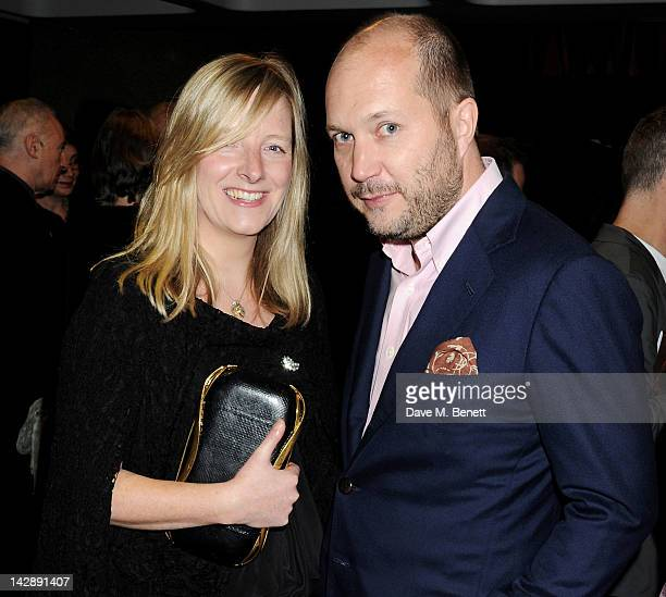 Designer Sarah Burton and David Burton attend an after party celebrating the press night performance of the Sydney Theatre Company's production of...