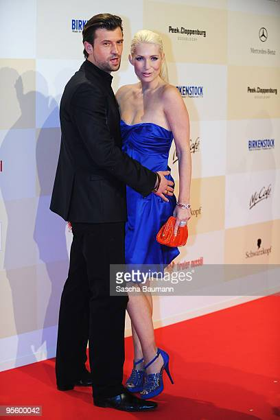 Designer Sarah Kern and husband Goran Munizaba attend the Tribute to Bambi 2008 charity at the Dome in Europapark Rust on November 26 2008 in Rust...