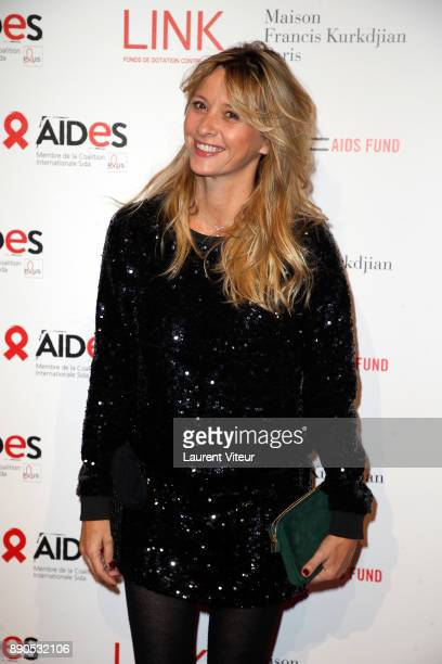 Designer Sarah Lavoine attends 'Link for Aides' Charity Dinner at Pavillon Cambon Capucines on December 11 2017 in Paris France