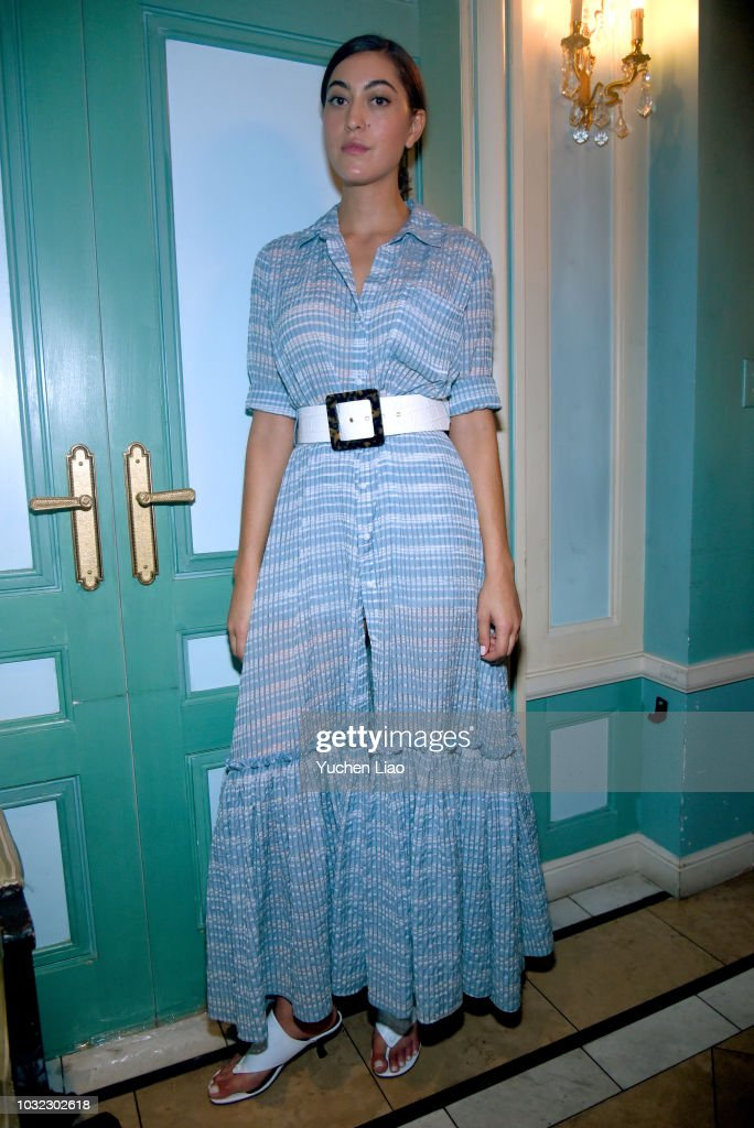 Designer Sarah Staudinger poses for the Staud Presentation during New York Fashion Week: The Shows at Laudree on September 12, 2018 in New York City.